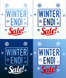 Winter sale sticker. Winter sale. Christmas sale. New year sale. Vector Illustration. Web banners, advertisements, brochures, business templates.  on a white Royalty Free Stock Photos