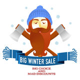 Winter sale sticker. Winter sale. Christmas sale. New year sale. Vector Illustration. Web banners, advertisements, brochures, business templates. on a white vector illustration