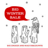 Winter sale sticker. Winter sale. Christmas sale. New year sale. Vector Illustration. Web banners, advertisements, brochures, business templates.  on a white Stock Images