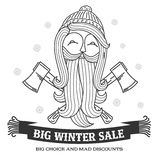 Winter sale sticker. Winter sale. Christmas sale. New year sale. Vector Illustration. Web banners, advertisements, brochures, business templates.  on a white Stock Photos