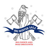 Winter sale sticker Royalty Free Stock Images