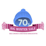Winter sale sticker. Christmas sale. New year sale. Web banners, advertisements, brochures, business templates.   Illustration on a white background Stock Photography