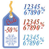 Winter Sale Sticker with Rope Royalty Free Stock Photos