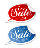 Winter Sale stickers Stock Images