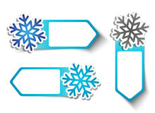 Winter Sale Stickers - Snowflakes Royalty Free Stock Photos