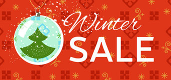 Winter sale tag. Christmas, New Year price card Stock Photos