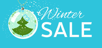 Winter sale tag. Christmas, New Year price card Stock Photography