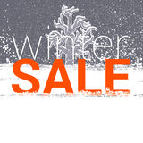 Winter sale tag. Christmas, New Year price or discount card Stock Photos