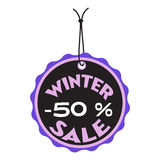 Winter sale tag Royalty Free Stock Photos