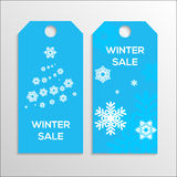 Winter sale tag Stock Image