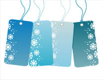 Winter sale tags Royalty Free Stock Photography