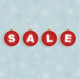 Winter sale tags Stock Image
