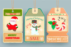 Winter Sale Tags Royalty Free Stock Image
