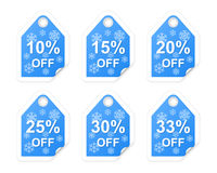 Winter sale tags. Stock Photos