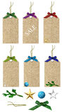 Winter sale tags Royalty Free Stock Images