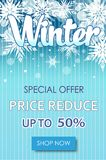 Winter sale text banners for December shopping promo Royalty Free Stock Photos
