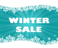 Winter sale title. Royalty Free Stock Image