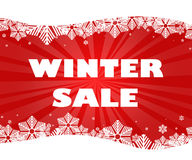 Winter sale title. Stock Image