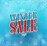 Winter sale title vector design for holiday promotion in blue color Royalty Free Stock Images