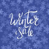 Winter Sale Typographic Poster Stock Images
