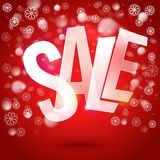 Winter sale typography symbol Royalty Free Stock Image