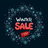 Winter sale up to 70% off banner royalty free stock images