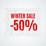 Winter sale vector banner Royalty Free Stock Photography