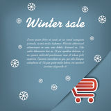 Winter sale vector concept Royalty Free Stock Photography