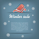 Winter sale vector concept Stock Photo