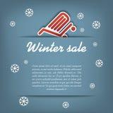 Winter sale vector concept Stock Photo