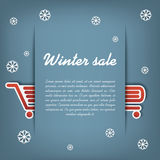 Winter sale vector concept Royalty Free Stock Photos