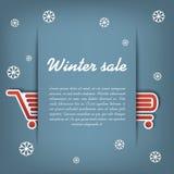 Winter sale vector concept Royalty Free Stock Photos