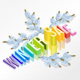 Winter sale vector 3d Royalty Free Stock Photo