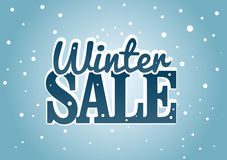 Winter Sale. Vector illustration about the Winter sale business Royalty Free Stock Image