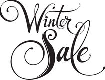 Winter Sale. Vector version of my own calligraphy Stock Photo