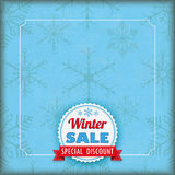 Winter Sale Vintage Cover Snowflakes Stock Photography