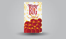 Winter sale voucher Royalty Free Stock Photos