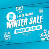 Winter sale. This weekend special offer banner. Stock Photography