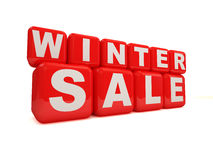 Winter Sale on white background. 3d Image Royalty Free Stock Photo