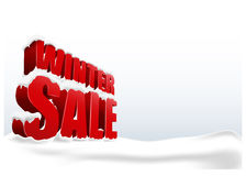 Winter sale on white background. 3D concept Royalty Free Stock Photos