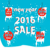 Sale 2016 snow .Winter sale. Vector illustration sale tags for winter season.Winter sale vector Stock Photography