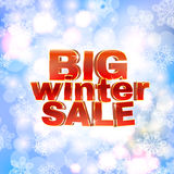 Winter sale words, 3d red phrase Royalty Free Stock Photos