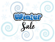Winter Sale. Writing in bubble blue font Royalty Free Stock Image