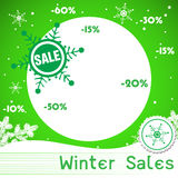 Winter sales Stock Photography