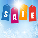Winter Sales Background Stock Photos