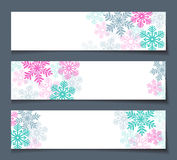 Winter sales banners Royalty Free Stock Photography
