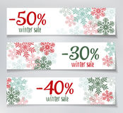 Winter Sales Banners Stock Photos