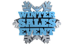 Winter Sales Event - Marketing Stock Photography