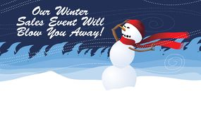 Winter sales Event will blow you away Advertising Banner stock images