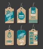 Winter Sales Labels Stock Images